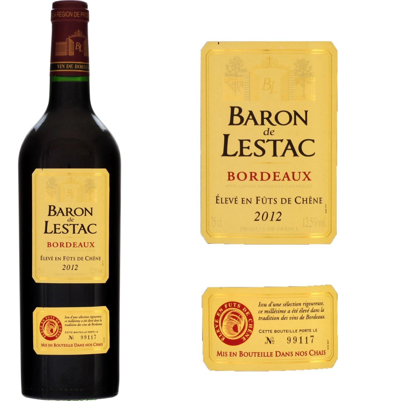 clikafrik gabonvin rouge baron de lestac bordeaux 75 cl 125